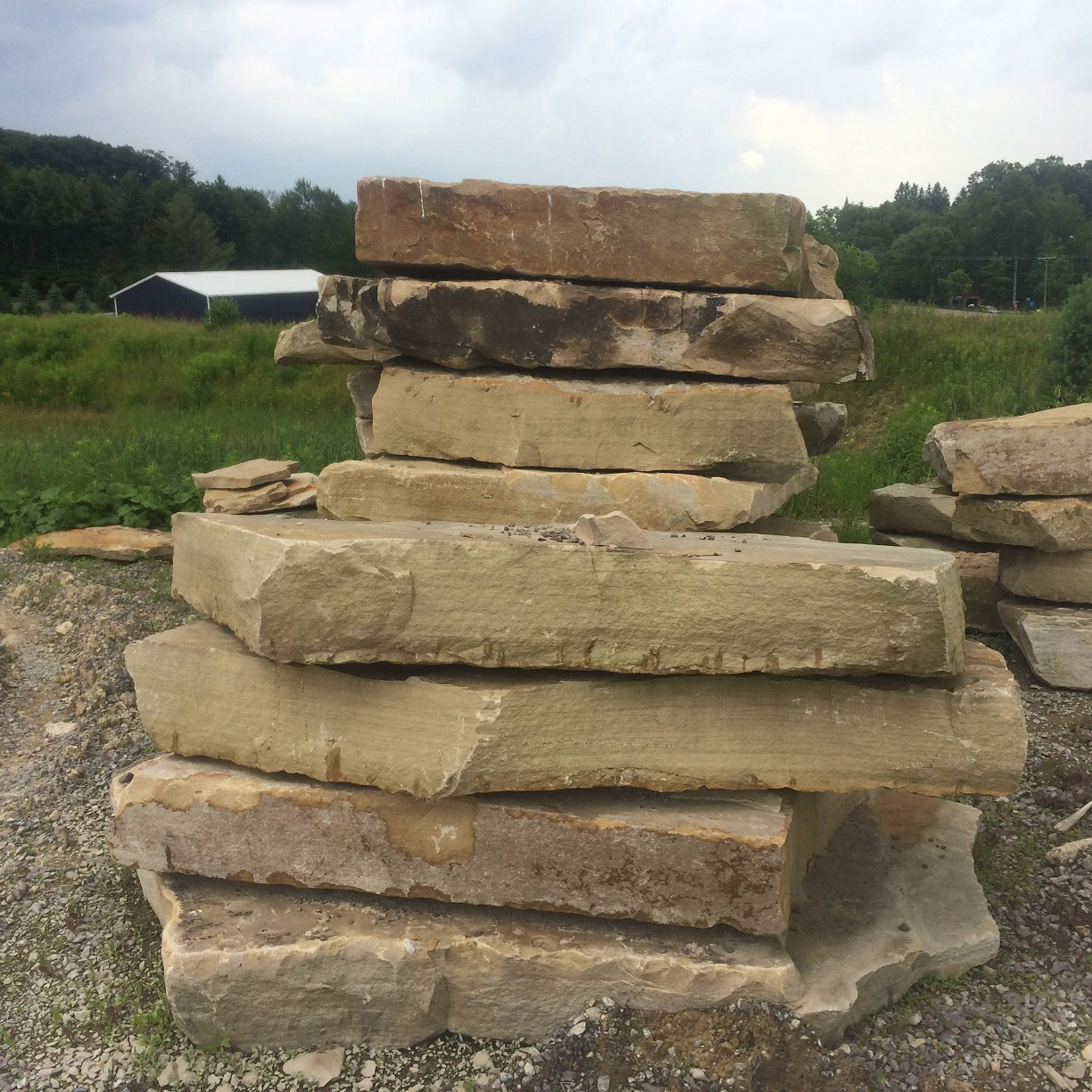 Sandstone Slab Steps Natural Stone Steppers Maryland West